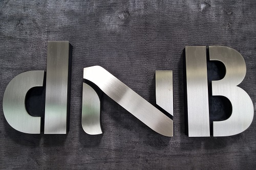 Brass and Black mdf letters