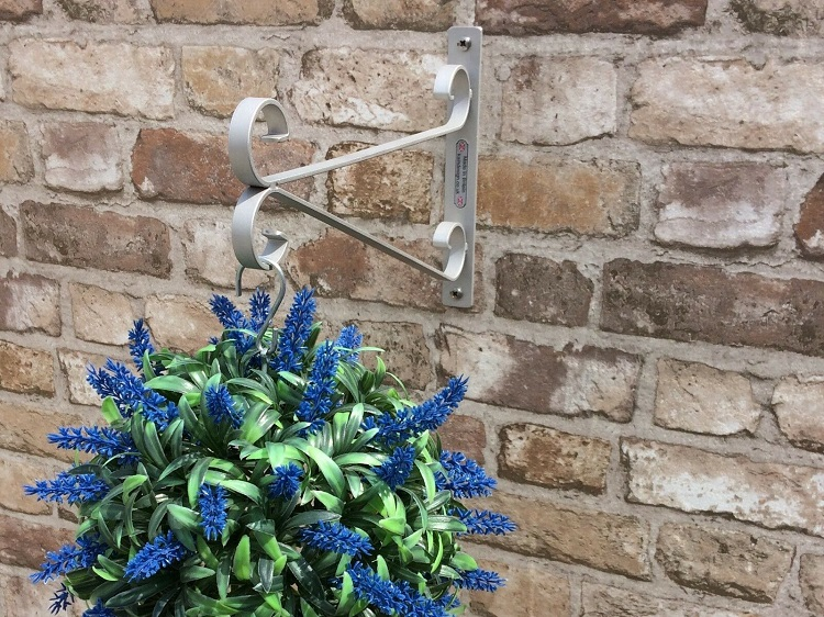 stainless steel small scroll hanging basket bracket